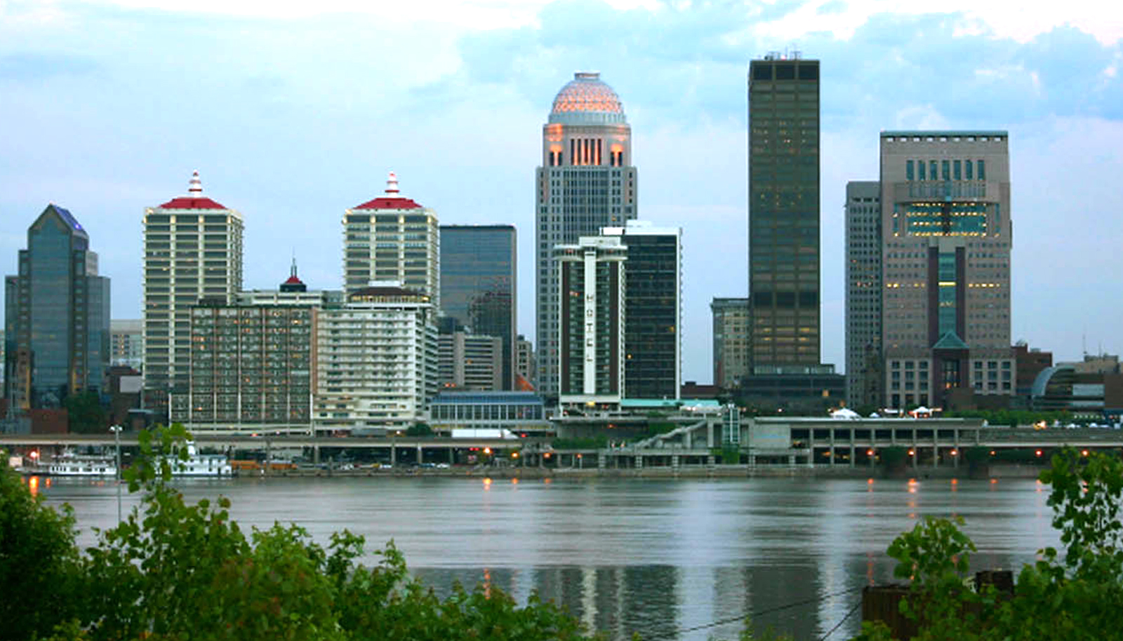Louisville Skyline with river