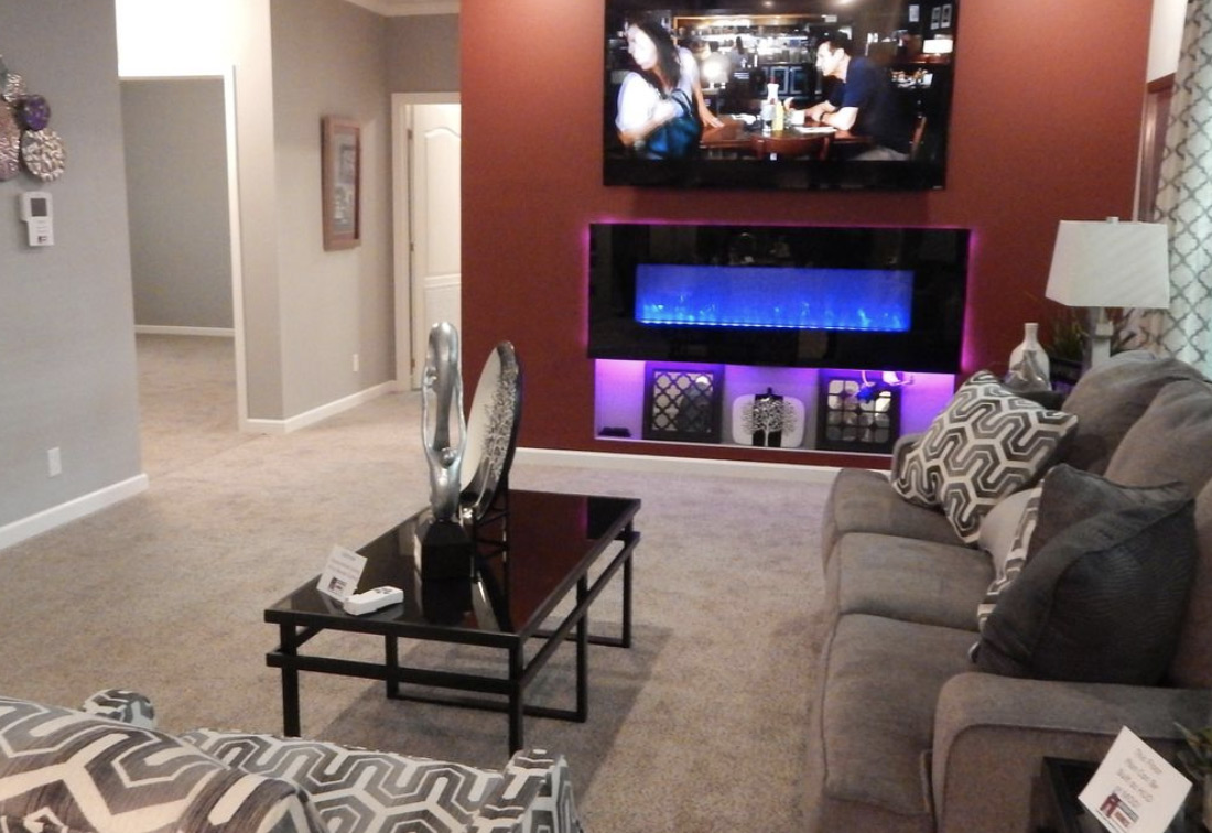 Manufactured-home-interior-tv-colored-lights